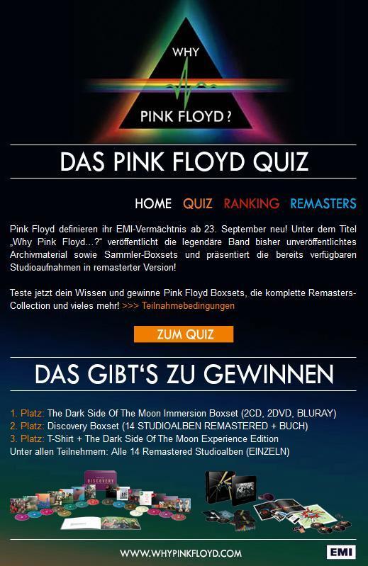 Pink Floyd Facebook Quiz für EMI Music