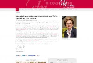 Relaunch der Website von Christine Bauer-Jelinek